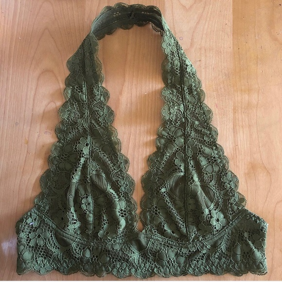 Free People Other - Free People green halter bra